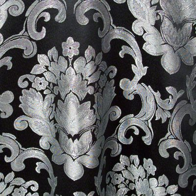 Black Silver Beethoven Damask