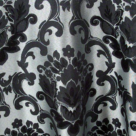 Black Silver Beethoven Damask Reverse Side