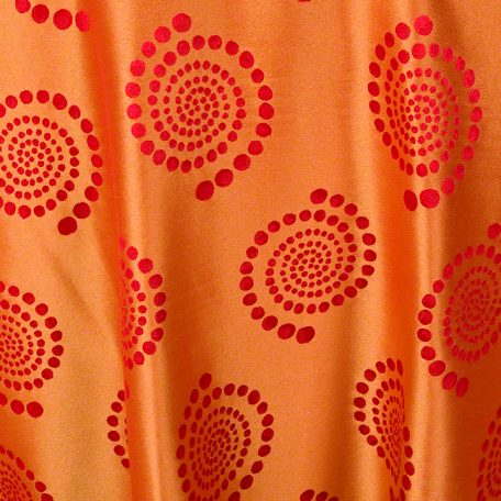 Red with Orange Crop Circles Reverse Side