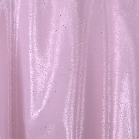White Fairy Dust over Light Pink Polyester