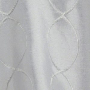 White Faux Silk Infinity