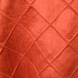 Burnt Orange Faux Silk Pintuck