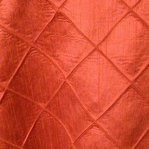 Burnt Orange Faux Silk Pintuck