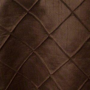 Chocolate Faux Silk Pintuck
