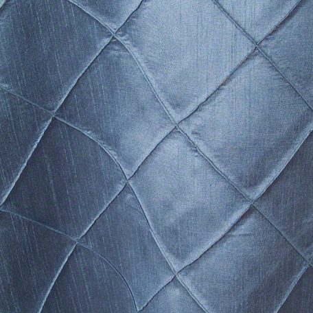 Slate Faux Silk Pintuck