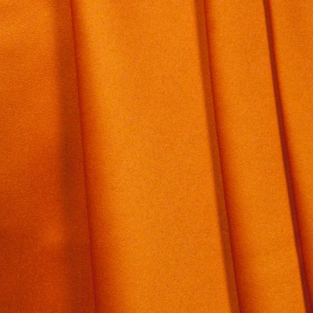 Pumpkin Orange Matte Satin