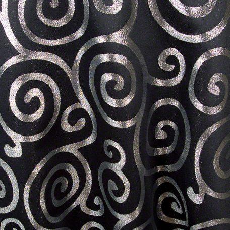 Black with Silver Metallic Scroll