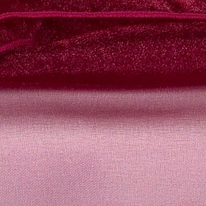 Burgundy Sheer Organza