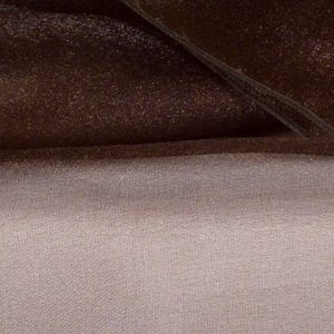 Chocolate Brown Sheer Organza