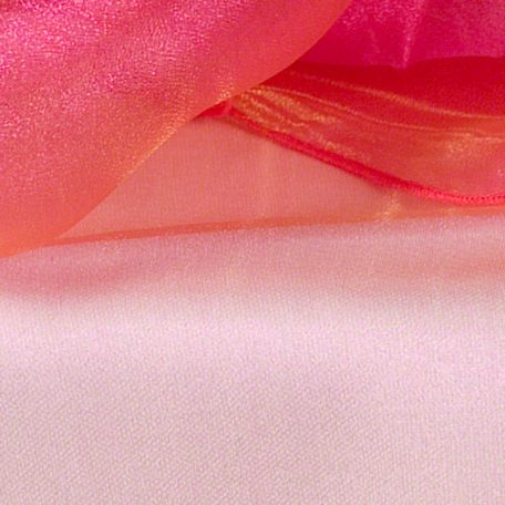 Coral Gold Sheer Organza