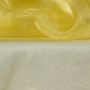Lemon Yellow Sheer Organza