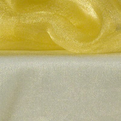 Lemon Yellow Sheer Organza