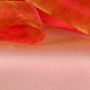 Orange Yellow Sheer Organza