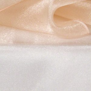 Peach Sheer Organza
