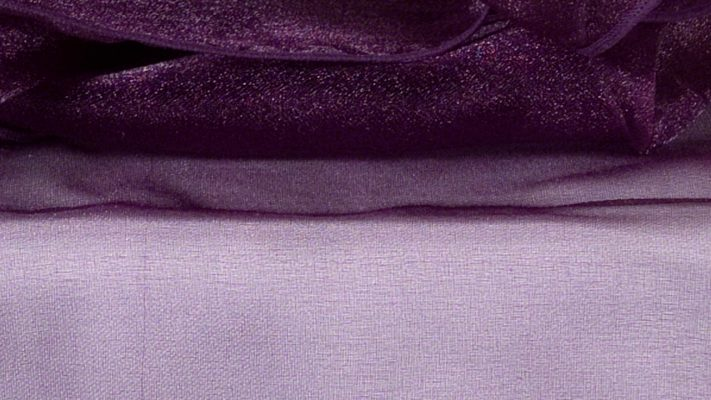 Plum Sheer Organza