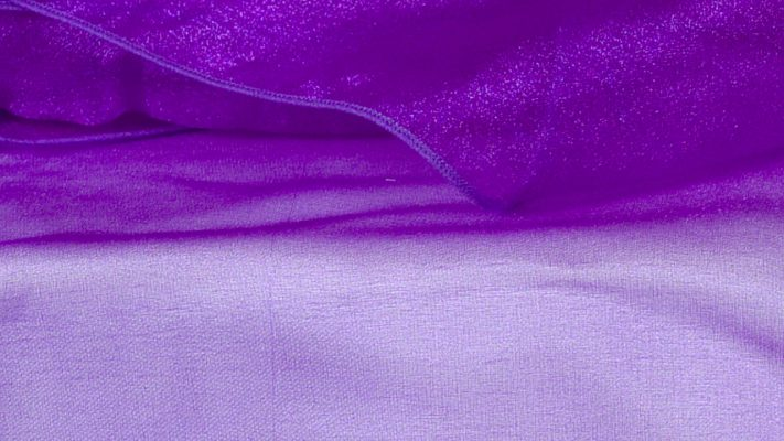 Purple Sheer Organza
