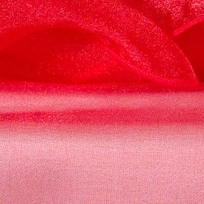 Red Sheer Organza