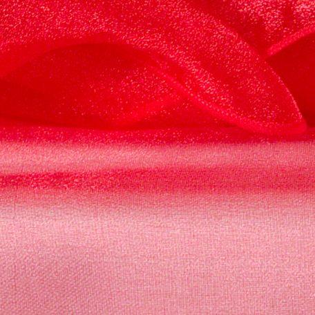 Red Sheer Organza