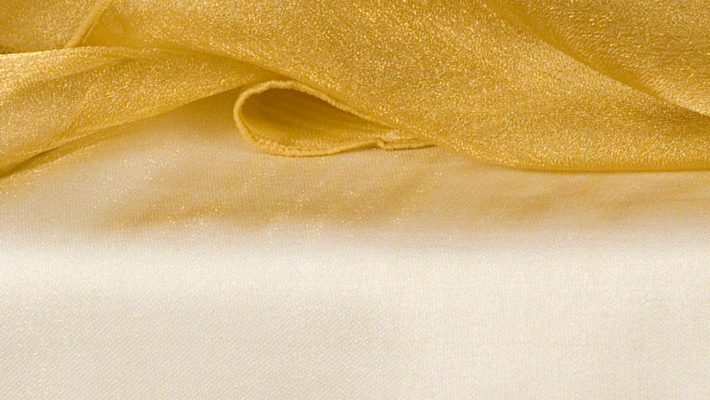 Victoria Gold Sheer Organza