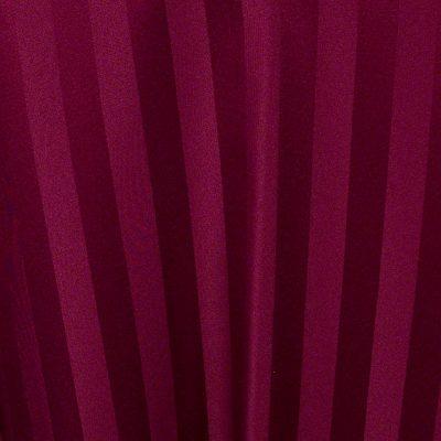 Burgundy Satin Stripe