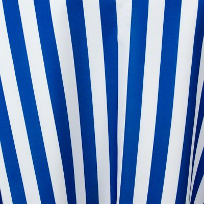Royal Blue and White Stripe