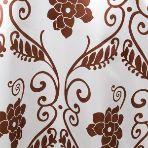 White with Chocolate Brown Athena Satin