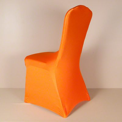 Pumpkin Orange Spandex Chair Cover