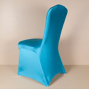 Turquoise Spandex Chair Cover
