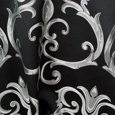 Black w/Silver Versailles Chopin Damask