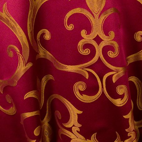 Burgundy/Gold Versailles Chopin Damask