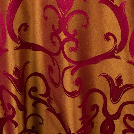 Burgundy/Gold Versailles Chopin Damask Reverse