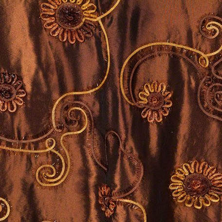 Copper Daisy Eyelash Taffeta