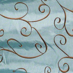 Faux Silk Swirl French Blue