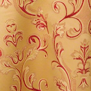 Gold Majestic Brocade with a Crimson Red Back