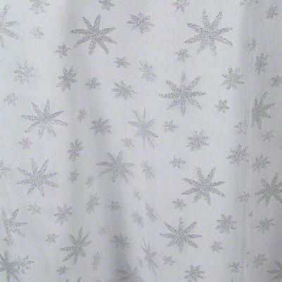 Silver Glitter Stars Sheer
