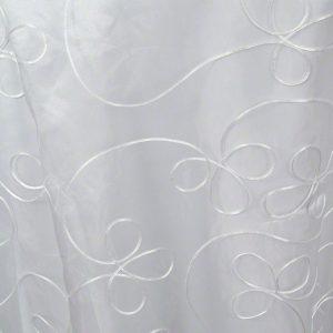 White Priscilla Sheer over White