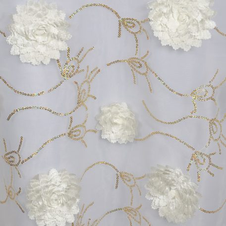 Ivory with Gold Bridely Sheer