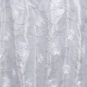 White with Silver Bridely Taffeta