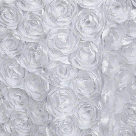 White Loveable Table Linens Rosette Style