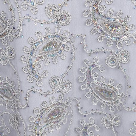 Paisley Sheer Overlay with sequins to rent