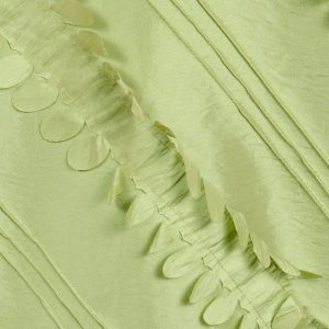 Apple Green Petals Taffeta