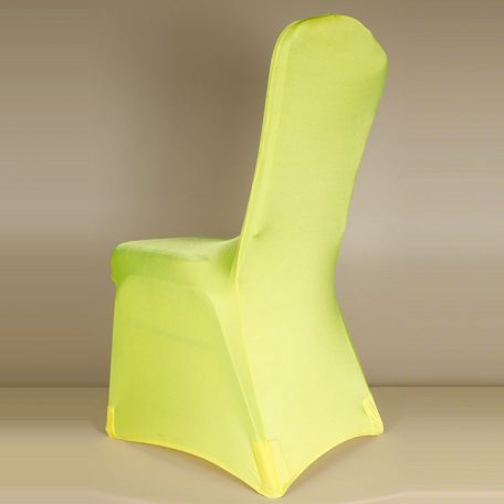 Lemon Yellow Spandex Chair Cover