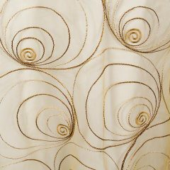 Gold Spirals Sheer