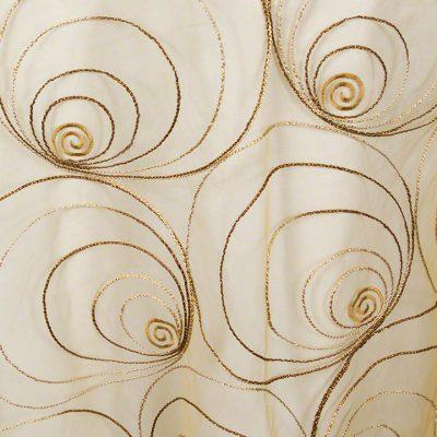 Gold Spirals Sheer