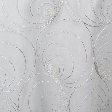 Silver Spirals Sheer