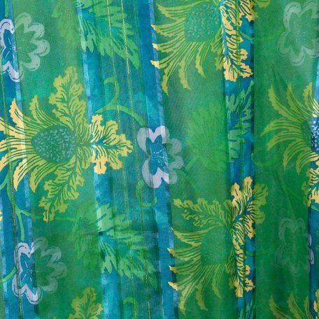 Blue Key West Sheer over Kelly Green Polyester
