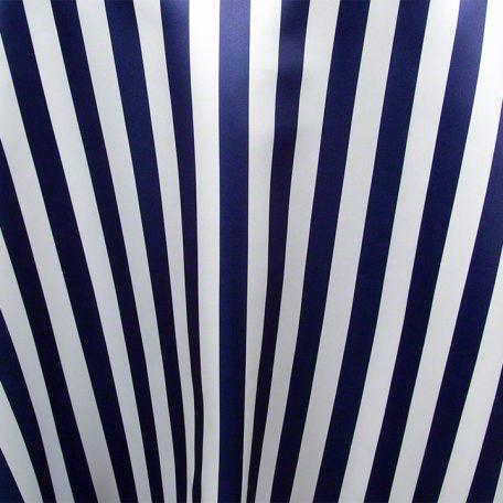 Navy White Satin Stripe
