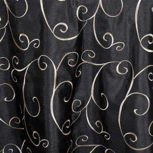 faux silk swirl black mid