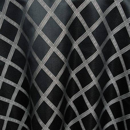 Black with Silver Versailles Lattice