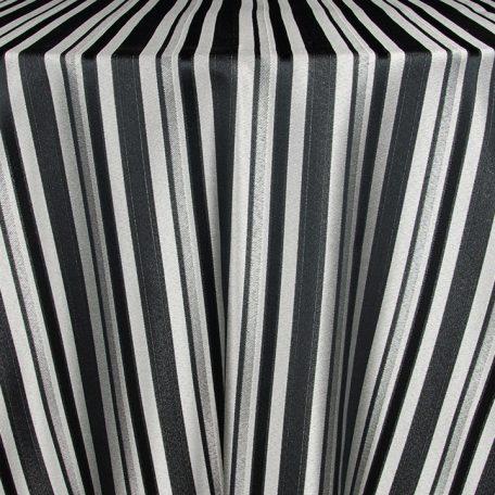 Black/Silver Versailles Stripe